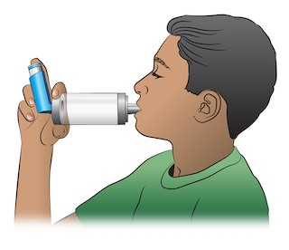 how to use metered dose inhaler